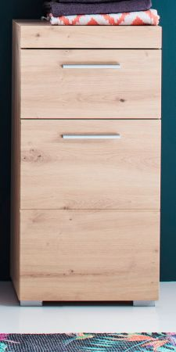 Unterschrank Badmöbel Amanda Asteiche Kommode 37 x 79 cm