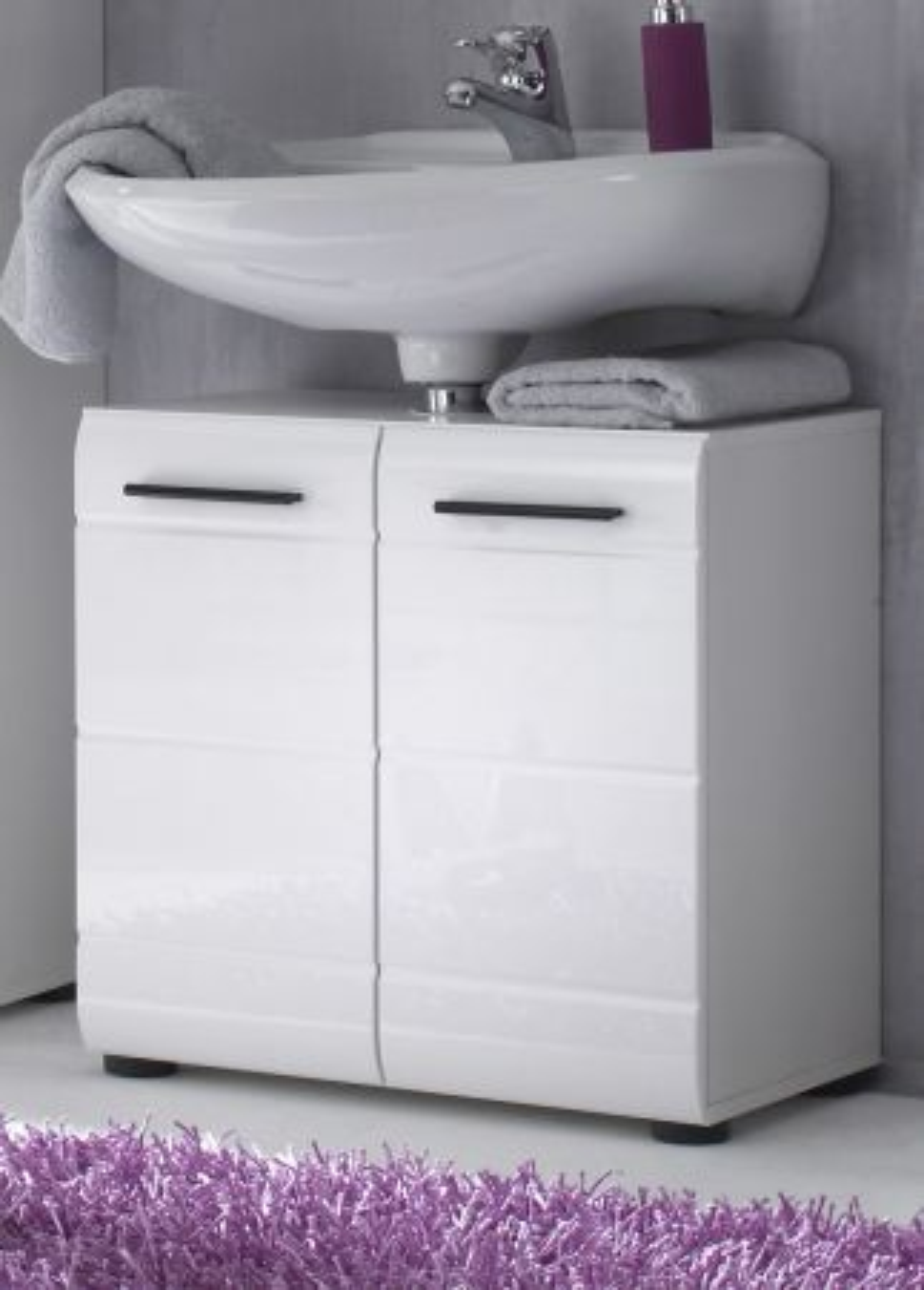 Waschbeckenunterschrank Skin Hochglanz weiss