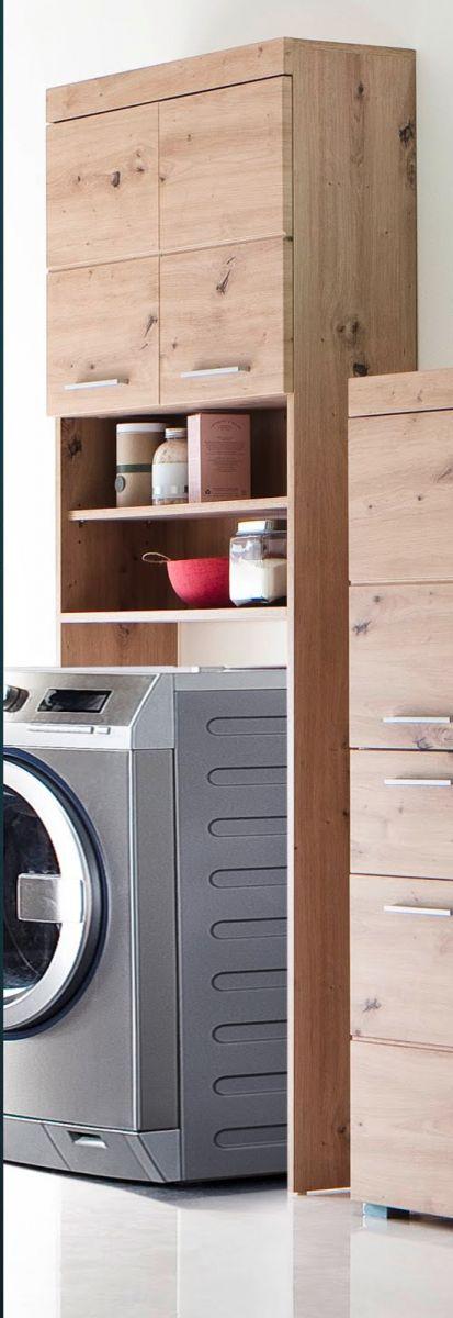 Waschmaschinenschrank Amanda Eiche 63 cm