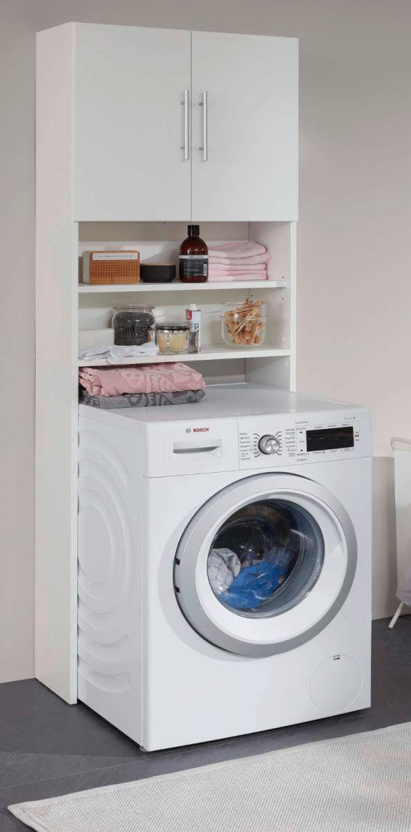 Waschmaschinenschrank Badmöbel Basix weiss 64 cm